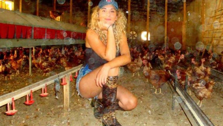 Maria Petroula Sklia-chicken farm in Corinthos