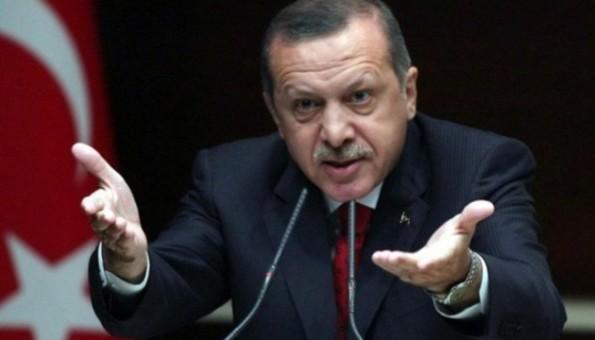 Erdogan stretched hands