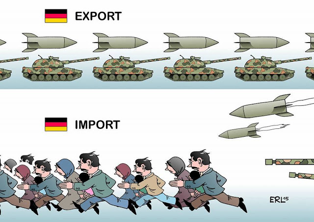 Export arms-inport refugees