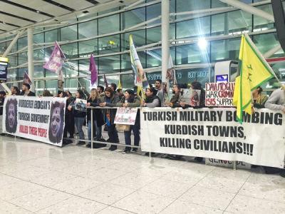 Heathrow-Protestors against Turkish state terror