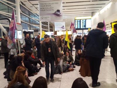 Heathrow-Protestors against Turkish state terror2