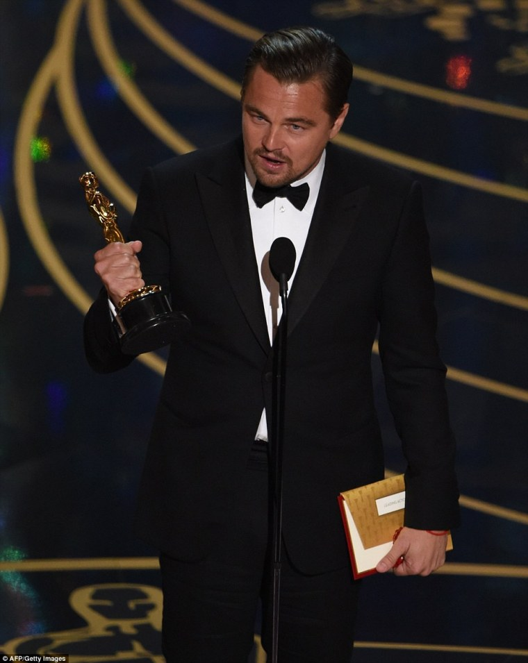 Leonardo DiCaprio won his first Oscar