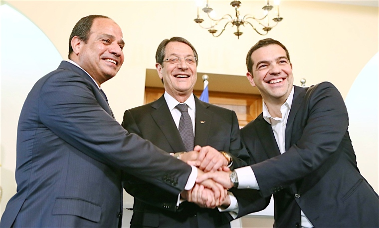 Nicos Anastasiades, the Prime Minister of Greece, Mr Alexis Tsipras, and the President of the Arab Republic of Egypt, Mr Abdel Fattah el-Sisi-filtered-27