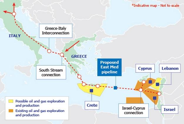 pipe Israel-Cyprus-Greece-Europe