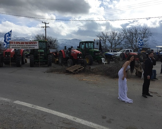 wedding by tractors