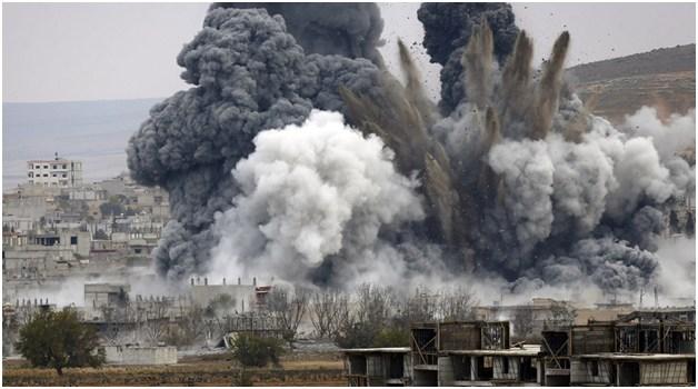 bombing Kurds