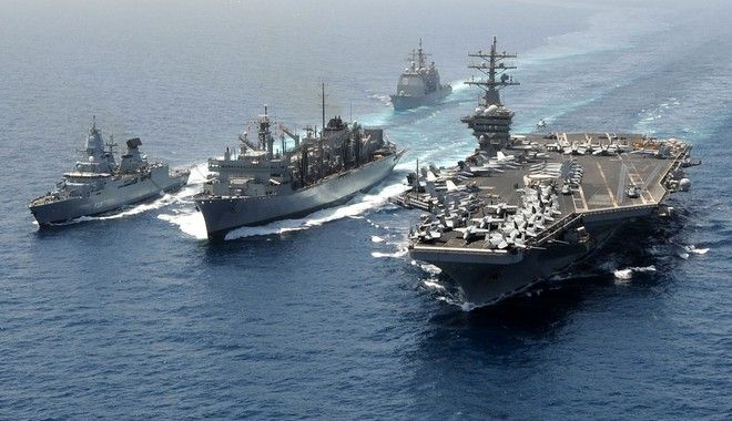 British warships-aegean