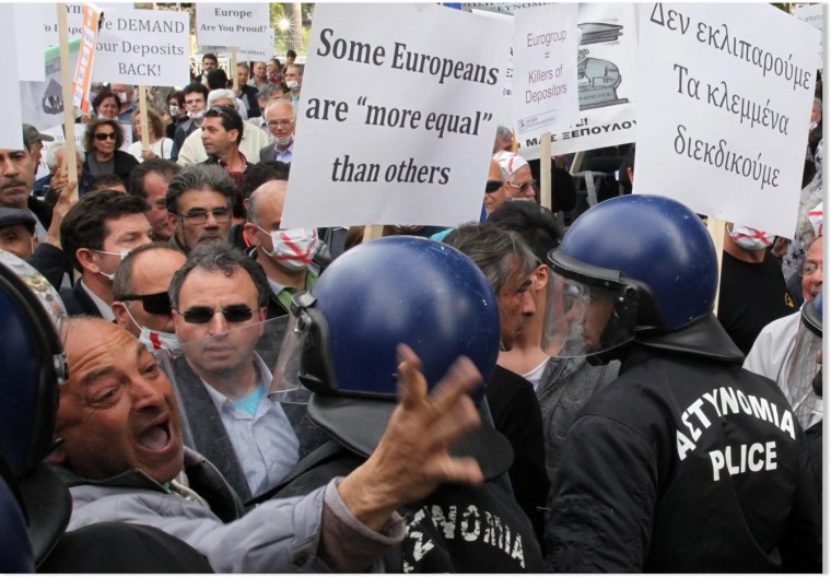 Cyprus protest against banks