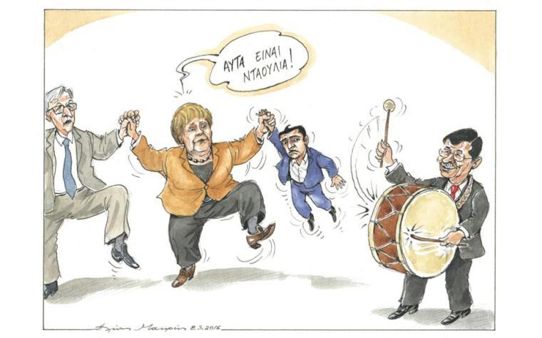 daoulia-merkel-tsipras dance-toon