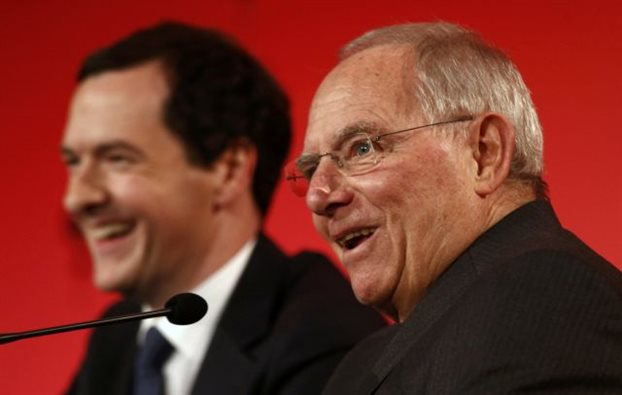 George Osborne and Germany's Finance Minister Wolfgang Schauble