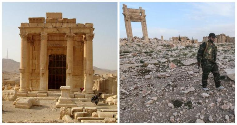 Palmyra-before and after