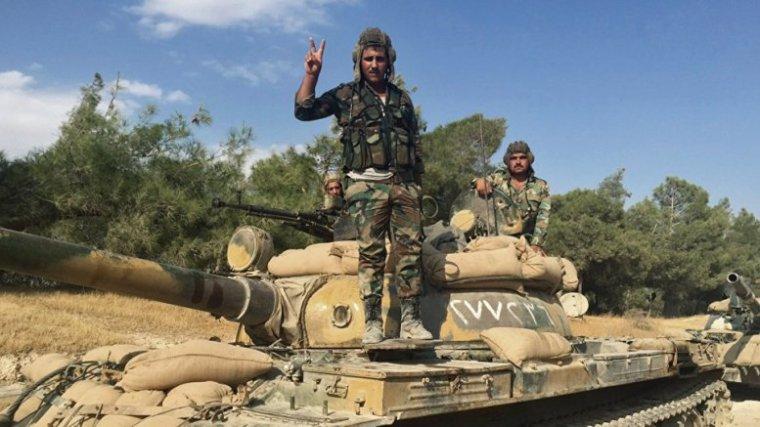syrian army enters palmyra