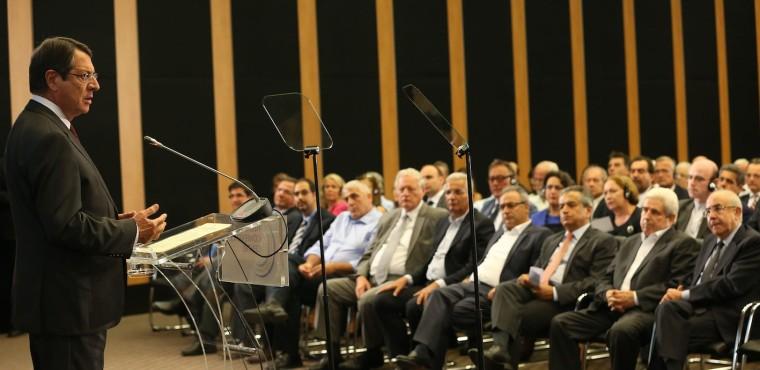 """Συνεδριακό Κέντρο «ΦΙΛΟΞΕΝΙΑ» Ο Πρόεδρος της Δημοκρατίας κ. Νίκος Αναστασιάδης τελεί την έναρξη των εργασιών του 18ου Παγκόσμιου Συνεδρίου Αποδήμων Κυπρίων (ΠΟΜΑΚ-ΠΣΕΚΑ) και της ετήσιας Συνόδου του Εκτελεστικού Συμβουλίου της Νεολαίας της Παγκόσμιας Ομοσπονδίας Αποδήμων Κυπρίων (ΝΕΠΟΜΑΚ). // """"FILOXENIA"""" Conference Center  The President of the Republic, Mr Nicos Anastasiades, inaugurates the 18th World Conference of Overseas Cypriots (POMAK-PSEKA) and the Executive Council Meeting of Young Overseas Cypriots (NEPOMAK). //Συνεδριακό Κέντρο «ΦΙΛΟΞΕΝΙΑ» Ο Πρόεδρος της Βουλής των Αντιπροσώπων κ. Γιαννάκης Ομήρου απευθύνει χαιρετισμό στην εναρκτήρια τελετή του 18ου Παγκόσμιου Συνέδριου Αποδήμων Κυπρίων (ΠΟΜΑΚ και ΠΣΕΚΑ) και της ετήσιας Συνόδου του Εκτελεστικού Συμβουλίου της Νεολαίας της Παγκόσμιας Ομοσπονδίας Αποδήμων Κυπρίων (ΝΕΠΟΜΑΚ).  // """"FILOXENIA"""" Conference Center  The President of the House of Representatives, Mr Yiannakis Omirou, addresses the opening ceremony of the 18th World Conference of Overseas Cypriots (POMAK and PSEKA) and the Executive Council Meeting of Young Overseas Cypriots (NEPOMAK). // Συνεδριακό Κέντρο «ΦΙΛΟΞΕΝΙΑ» Ο Υπουργός Εξωτερικών κ. Ιωάννης Κασουλίδης απευθύνει χαιρετισμό στην εναρκτήρια τελετή του 18ου Παγκόσμιου Συνέδριου Αποδήμων Κυπρίων (ΠΟΜΑΚ και ΠΣΕΚΑ) και της ετήσιας Συνόδου του Εκτελεστικού Συμβουλίου της Νεολαίας της Παγκόσμιας Ομοσπονδίας Αποδήμων Κυπρίων (ΝΕΠΟΜΑΚ).  // """"FILOXENIA"""" Conference Center  The Minister of Foreign Affairs, Mr Ioannis Kasoulides, addresses the opening ceremony of the 18th World Conference of Overseas Cypriots (POMAK and PSEKA) and the Executive Council Meeting of Young Overseas Cypriots (NEPOMAK). // Συνεδριακό Κέντρο «ΦΙΛΟΞΕΝΙΑ» 18ο Παγκόσμιο Συνέδριο Αποδήμων Κυπρίων (ΠΟΜΑΚ και ΠΣΕΚΑ) και ετήσια Σύνοδος του Εκτελεστικού Συμβουλίου της Νεολαίας της Παγκόσμιας Ομοσπονδίας Αποδήμων Κυπρίων (ΝΕΠΟΜΑΚ).  // """"FILOXENIA"""" Conference Center  18th World Conference of Overseas Cypriots (POMAK and PSEKA) and Executive"""