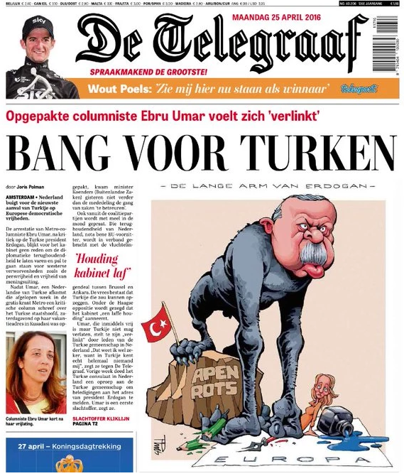 de telegraaf-Erdogan monkey