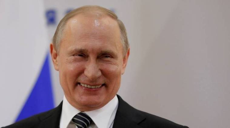 Putin big smile