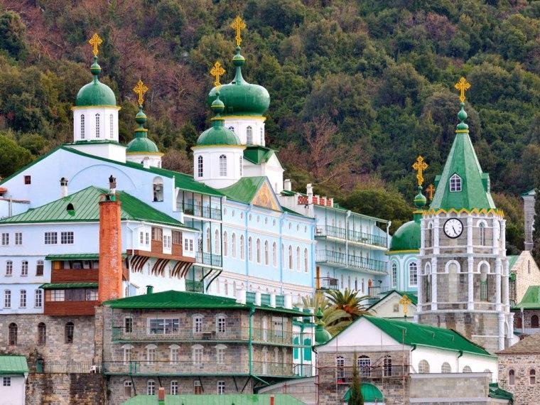 russian monastery-agio pros