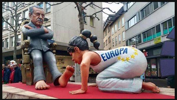 Europe kisses Erdogan's feet
