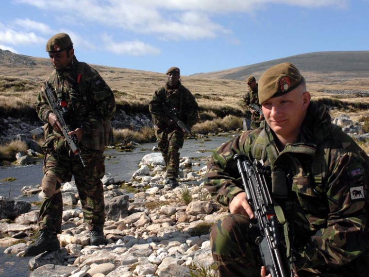 Falklands-British troops 1982