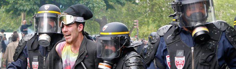 paris protest-police arrests