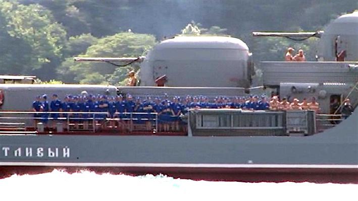 Russian ship crosses Bosborus