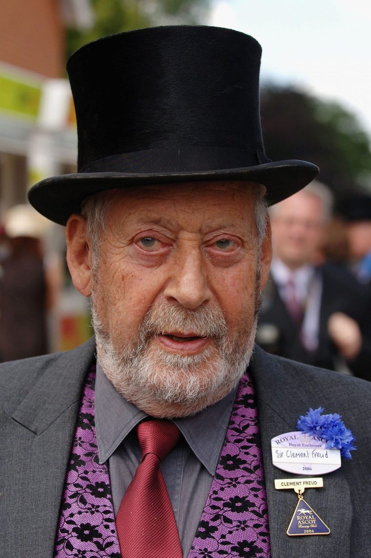 Writer Sit Clement Freud attends Ladies Day on the third day of Royal Ascot at the Ascot Racecourse on June 22, 2006 in Berkshire, England.
