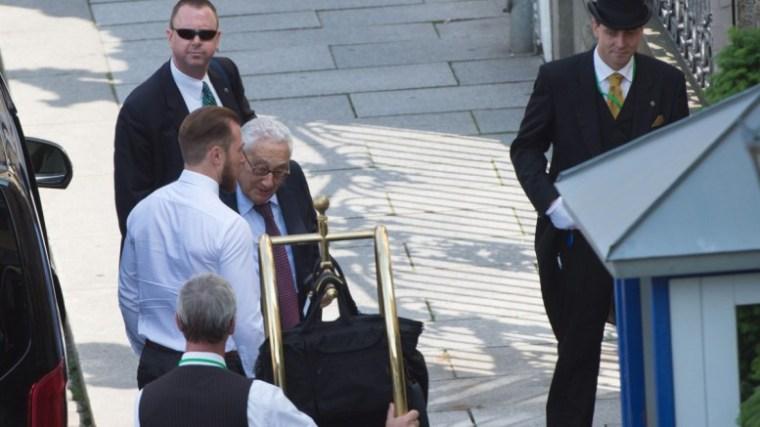 Henry Kissinger arrives to the Bilderberg Conference