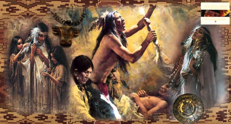 red indians-collage