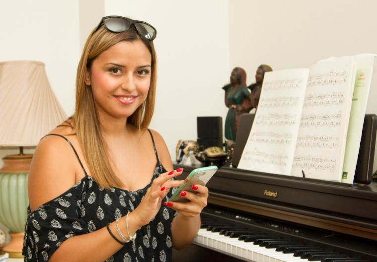 Saturday 24th July 2016. Pic shows - Sophia Pedraza. Sophia Pedraza, aged 26, from New Barnet is giving up her job as a private piano teacher to earn her living playing Pokemon Go.