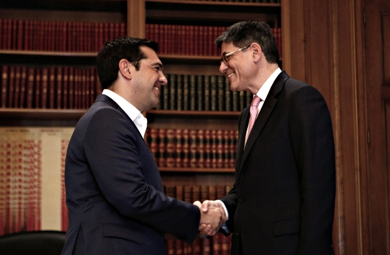 Meeting between the Prime Minister of Greece, Alexis Tsipras and the US Treasury Secretary Jack Lew , in Athens, on July 21,2016  /  Συνάντηση μεταξύ του Πρωθυπουργου Αλέξη Τσίπρα  του υπουργού Οικονομικών των ΗΠΑ, Τζακ Λιου, στην Αθήνα, στις 21 Ιουλίου, 2016