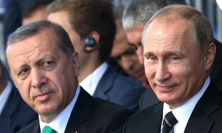Russian President Vladimir Putin Attends Moscow Cathedral Mosque Opening