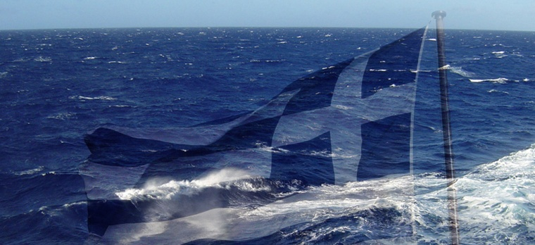 Greek sea-flag