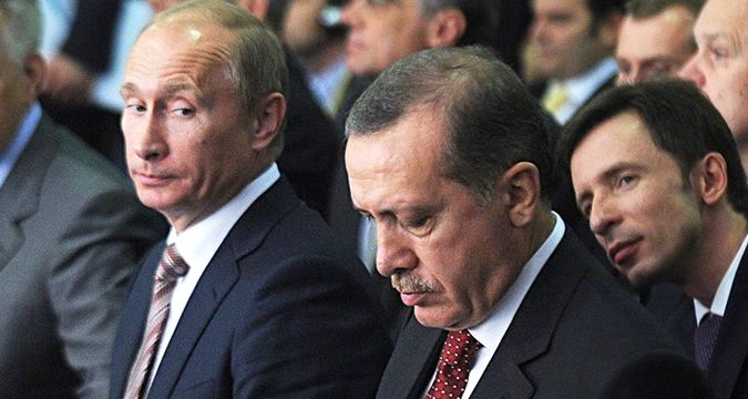 Putin sidelook at Erdogan