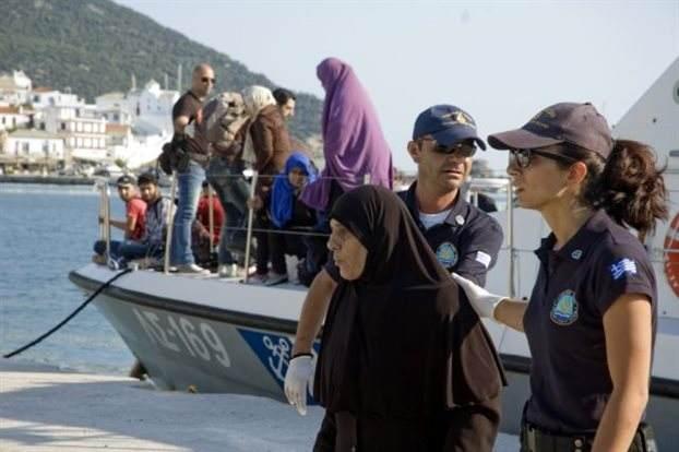 Lesvos-mpslem refugees