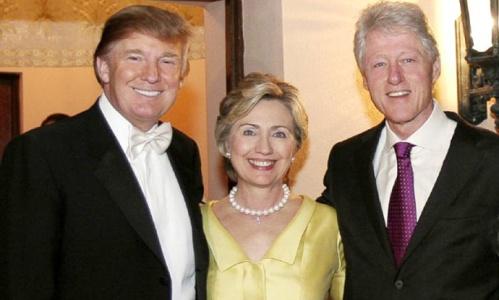 donald trump-Clintons