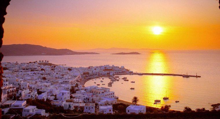 greek islands-sunset