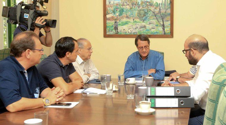 Ο Πρόεδρος της Δημοκρατίας Νίκος Αναστασιάδης προεδρεύει σύσκεψης για τo Kυπριακό στην Προεδρική κατοικία στο Τρόοδος.
