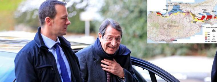Cypriot President Nicos Anastasiades arrives for the Cyprus reunification talks at the United Nations in Geneva, Switzerland January 11, 2017. REUTERS/Pierre Albouy