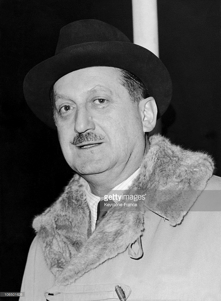 Greek Foreign Minister Evangelos Averoff At London Airport, 11.2.1959