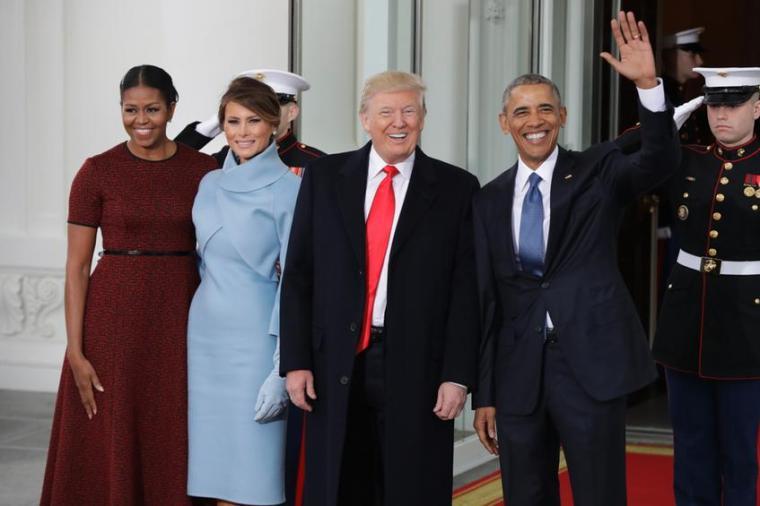 APTOPIX Trump Obama