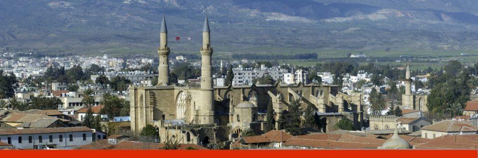Cyprus, Nicosia, cityscape, elevated view