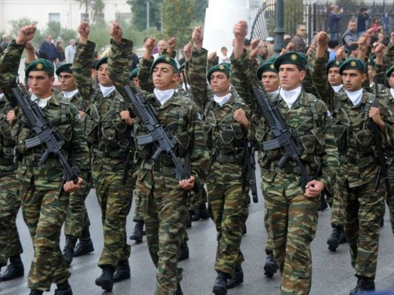 Greek soldiers-parade