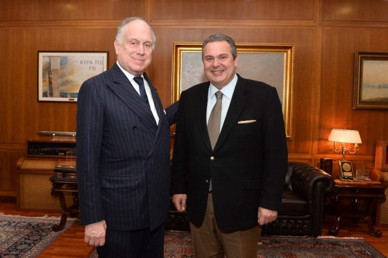 Kammenos and Ronald Launder, leader of World Jews met in Athens, 1/2/17.